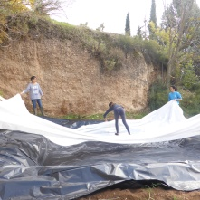 Geotextil para proteger capas de plastico